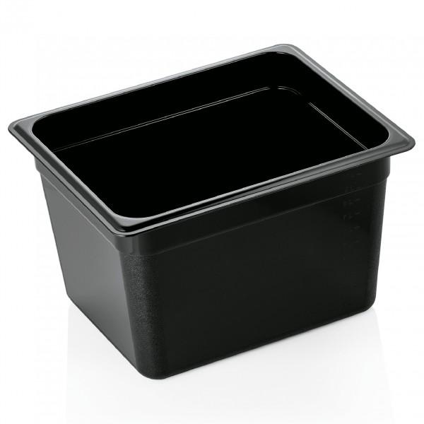 GN Behälter 1/2-200 mm, schwarz, Polycarbonat