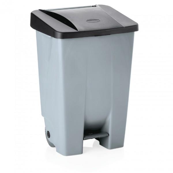 Tretabfallbehälter mit schwarzem Deckel, 80 ltr., Polyethylen