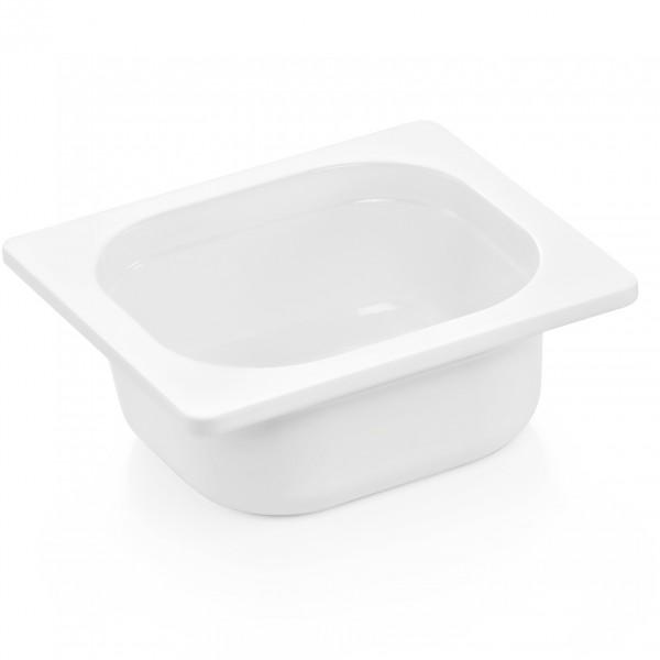 GN Behälter 1/6-065 mm, weiß, Melamin, Eco
