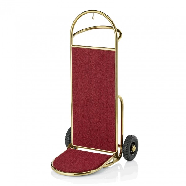 Gepäckkarre, 45 x 74 x 122 cm, goldfarben, Edelstahl