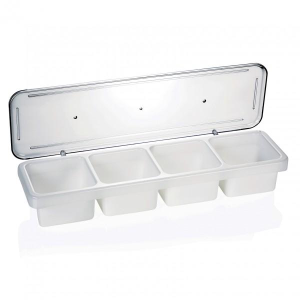 Zutatenbehälter mit 4 Einsätzen á 0,6 ltr., Polypropylen/Polycarbonat