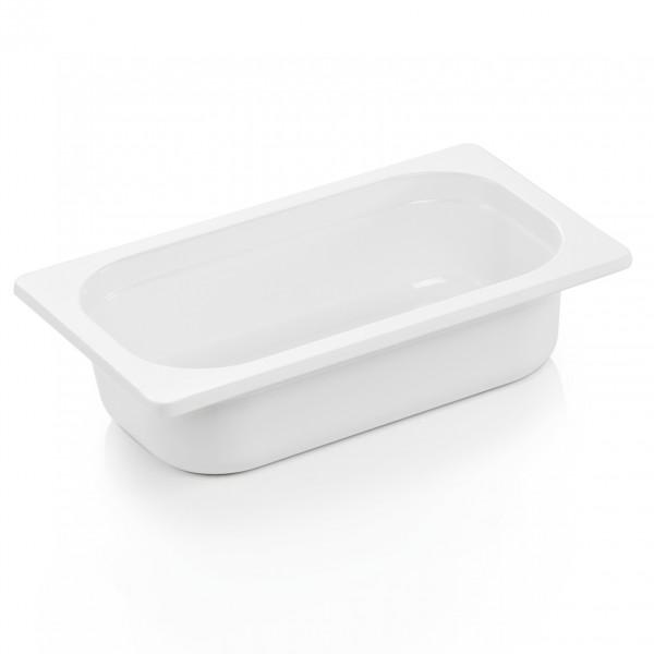GN Behälter 1/4-065 mm, weiß, Melamin, Eco