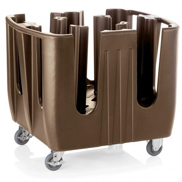 Geschirrabräumwagen mit vier Einteilungen, 70 x 90 x 80 cm, Polyethylen