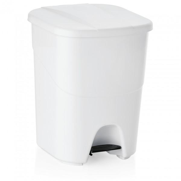 Treteimer mit weißem Deckel, 40 ltr., Polypropylen