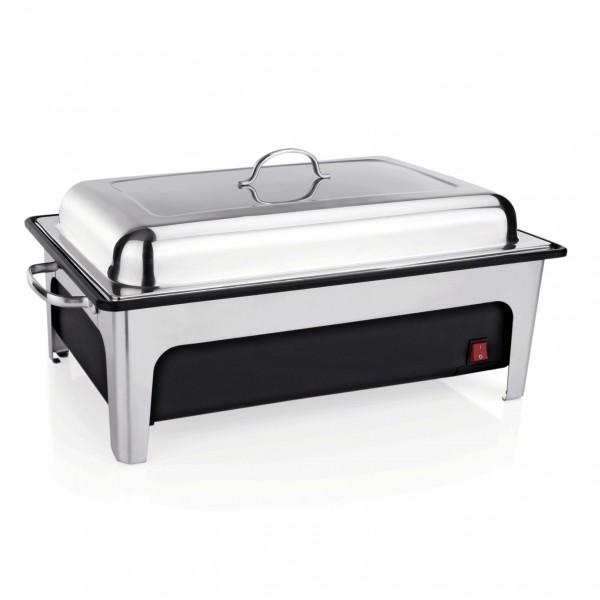Elektro Chafing Dish GN 1/1, 64 x 35 x 26 cm, Kunststoff/Chromnickelstahl