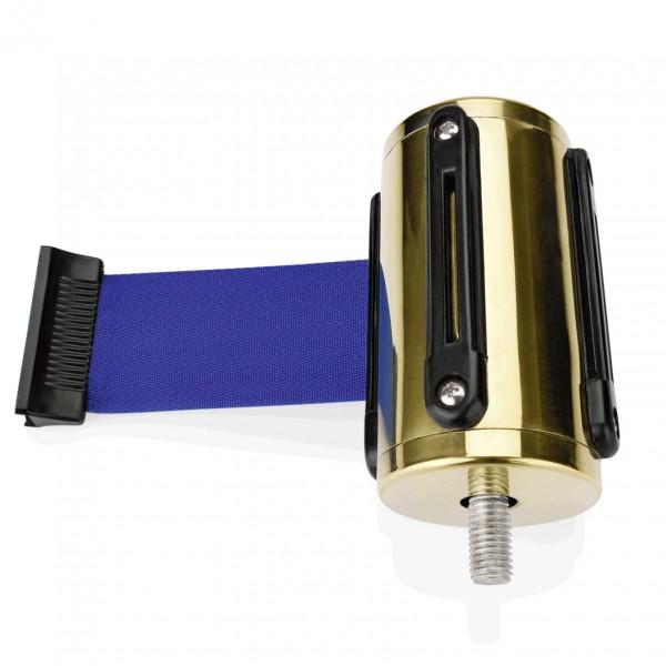 Einzelgurtband, gold, blau, Länge 2 Meter, für Abgrenzungspfosten 2214 100