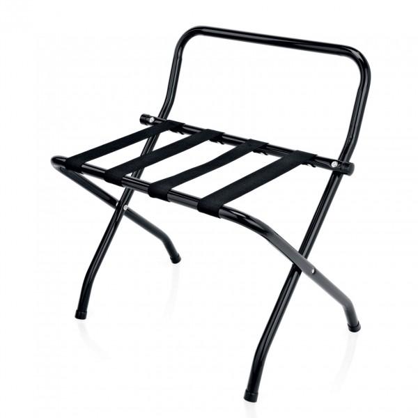 Gepäckablage mit Wandschutz, 61 x 56 x 65 cm, schwarz, pulverbeschichteter Stahl