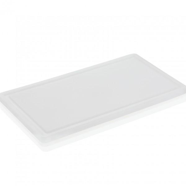Schneidbrett mit Saftrille, 50 x 30 x 2 cm, Polyethylen