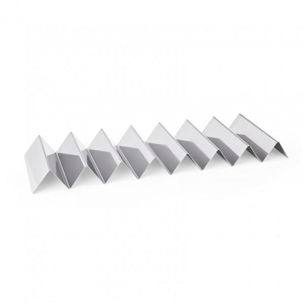 Snackwelle mit sieben Ablagen, 57 x 17 x 4,5 cm, Chromnickelstahl