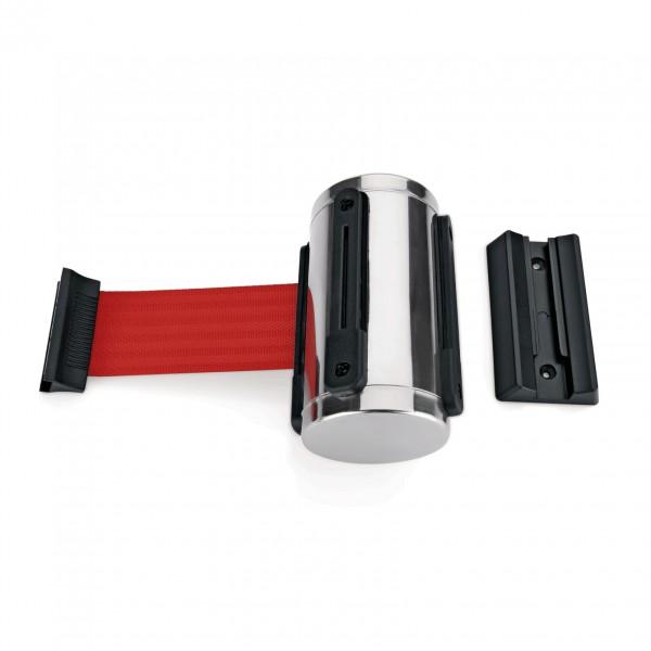 Gurtband Highflex für Wandmontage, 3 m, rot, inkl. Wandhalter