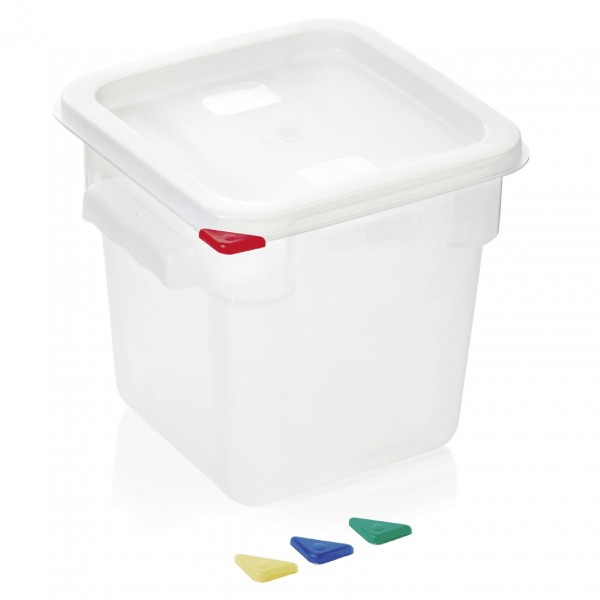 Vorratsbehälter mit Deckel, 4,0 ltr., 18,0 x 18,0 x 19 cm, Polypropylen