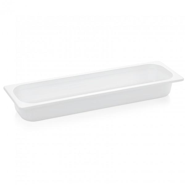 GN Behälter 2/4-065 mm, weiß, Melamin, Eco