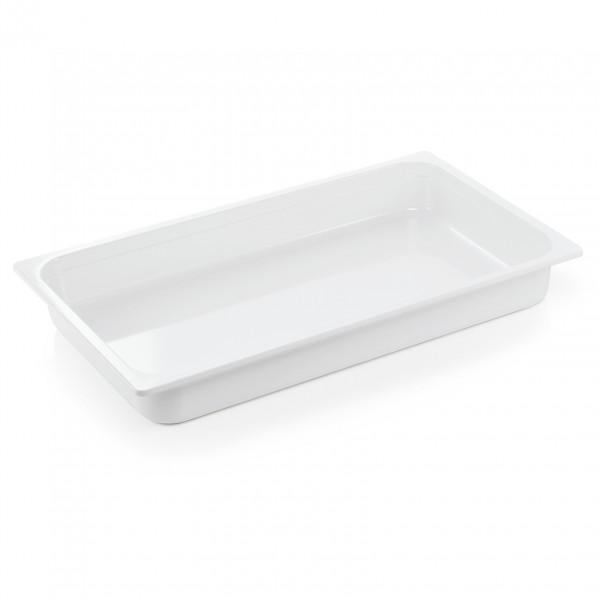 GN Behälter 1/1-065 mm, weiß, Melamin, Eco