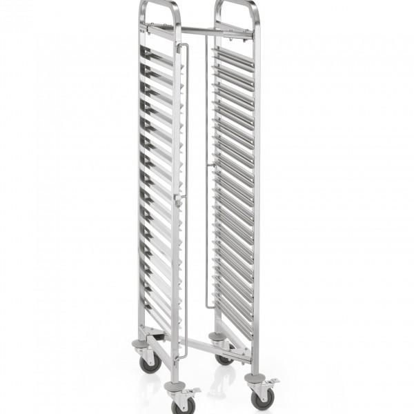 Regalwagen GN 1/1, Z-Form, passend für 15 Behälter, 55 x 38 x 170 cm, Chromnickelstahl