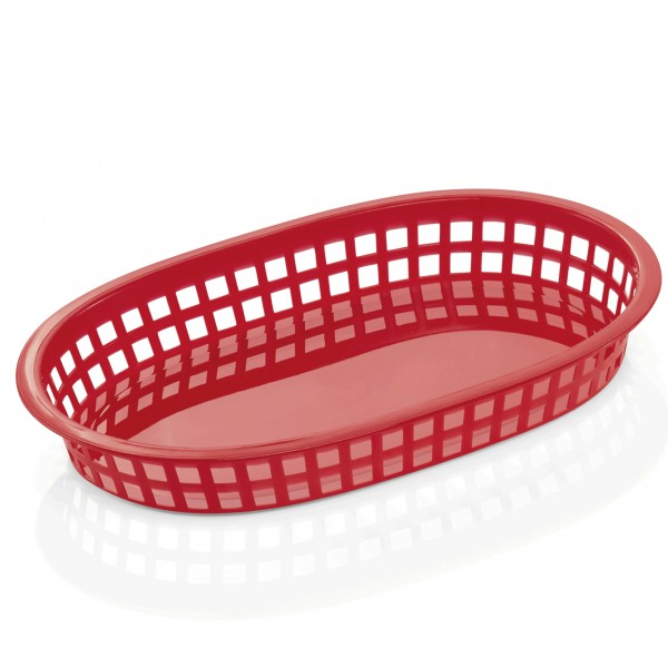 Tischkorb, 27 x 18 x 4 cm, rot, Polyethylen