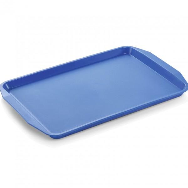Tablett mit Lappengriffen, 44,3 x 31,5 cm, blau, Polypropylen