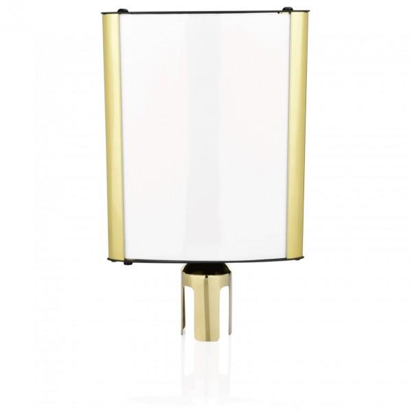 Schilderhalter Highflex DIN A4, goldfarben, Edelstahl