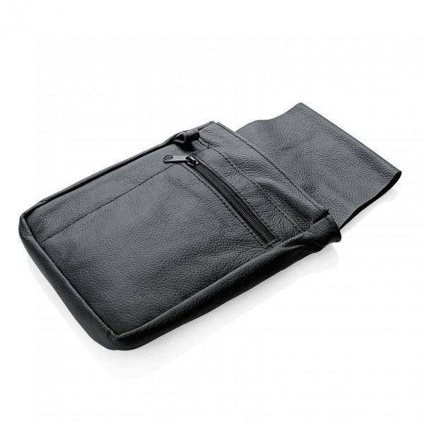 Revolvertasche mit drei Fächern, 24 x 14,5 cm, Leder