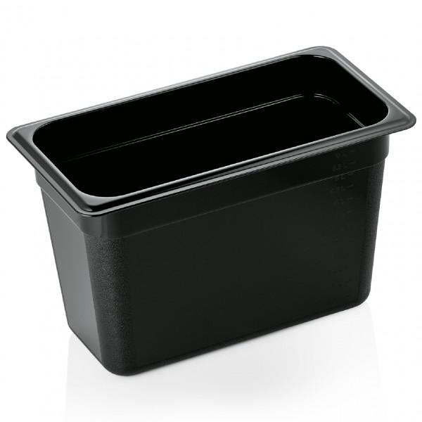 GN Behälter 1/3-200 mm, schwarz, Polycarbonat