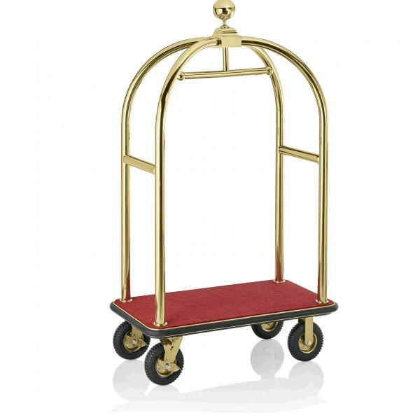 Gepäckwagen, 110 x 62 x 190 cm, goldfarben, Edelstahl