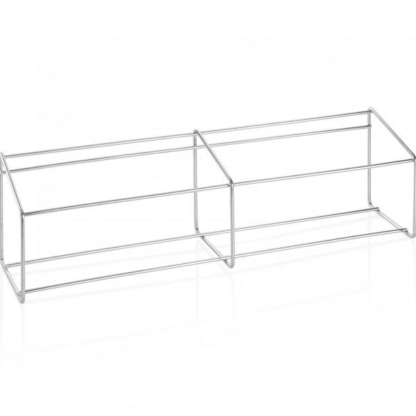 Ständer für Gewürzbehälter, 68 x 17 x 20 cm, Chromnickelstahl