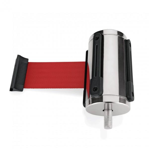 Einzelgurtband in rot, Länge 3 Meter, für Abgrenzungspfosten Highflex 1114 100