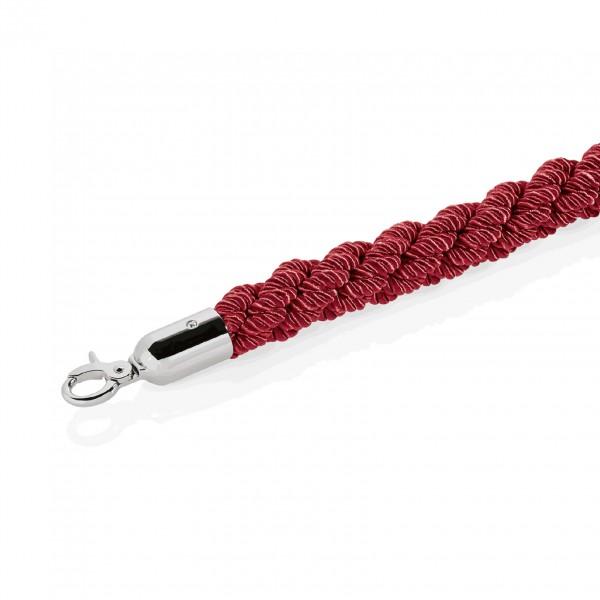 Verbindungskordel, Ø 32 mm, 2,5 m, rot, mit verchromten Beschlägen