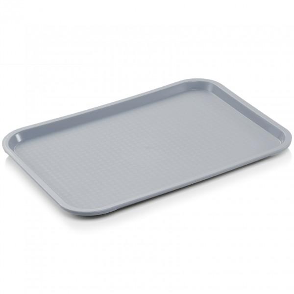Tablett, 45,5 x 35,5 cm, lichtgrau, Polypropylen