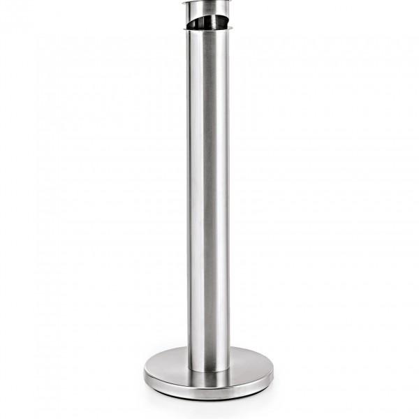 Standascher, Ø 13 cm, Höhe 92 cm, Chromnickelstahl