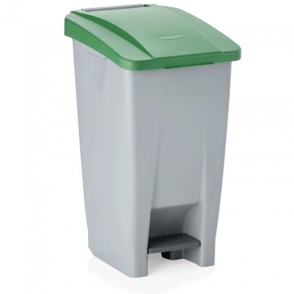 Tretabfallbehälter mit grünem Deckel, 60 ltr., Polyethylen