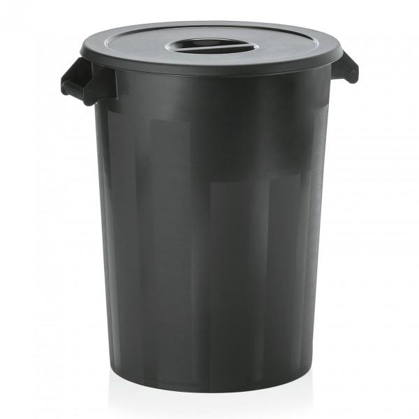 Zutaten-/Lagerbehälter, schwarz, 100 ltr., Polyethylen