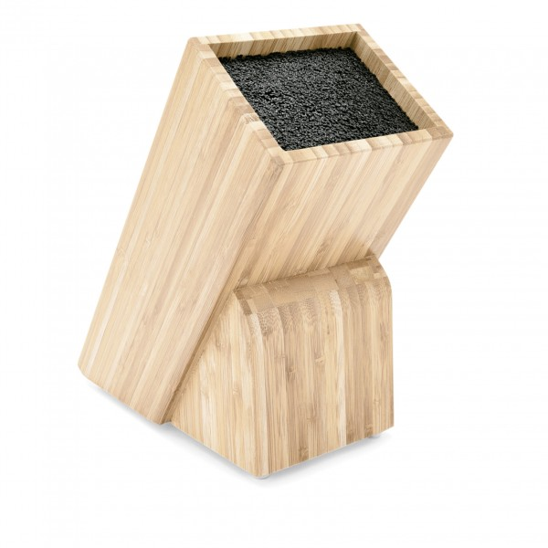 Messerblock mit Polypropylen Einsatz, 29,5 cm, Naturholz