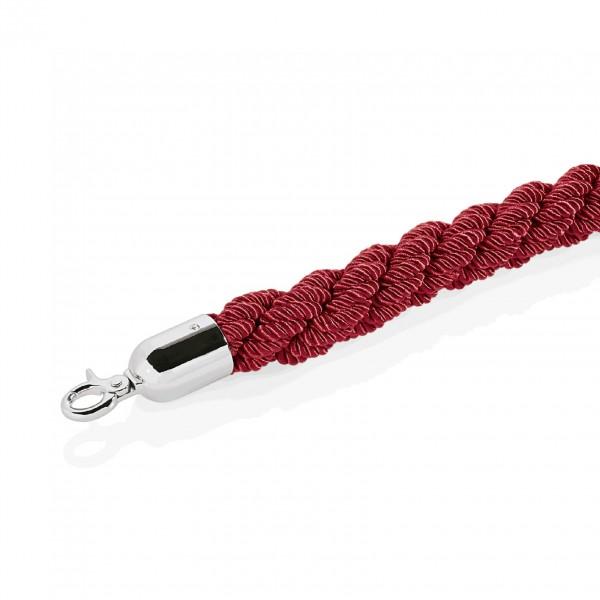 Verbindungskordel, Ø 38 mm, 2,5 m, rot, mit verchromten Beschlägen