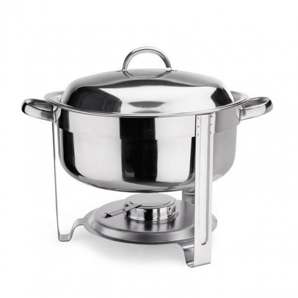 Suppen Chafing Dish, 7,5 ltr., Beschläge silberfarben, Chromnickelstahl