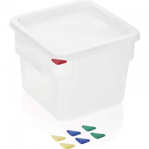 Vorratsbehälter mit Deckel, 6,0 ltr., 22,5 x 22,5 x 19 cm, Polypropylen