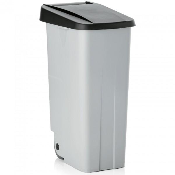 Abfallbehälter mit schwarzem Deckel, 85 ltr., Polypropylen