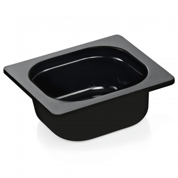 GN Behälter 1/6-065 mm, schwarz, Melamin, Eco
