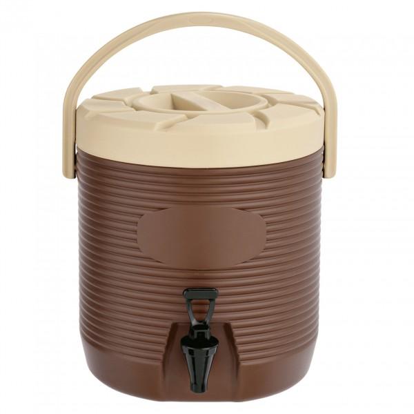 Thermogetränkebehälter, 12 ltr., braun, Kunststoff mit PU-Isolierung