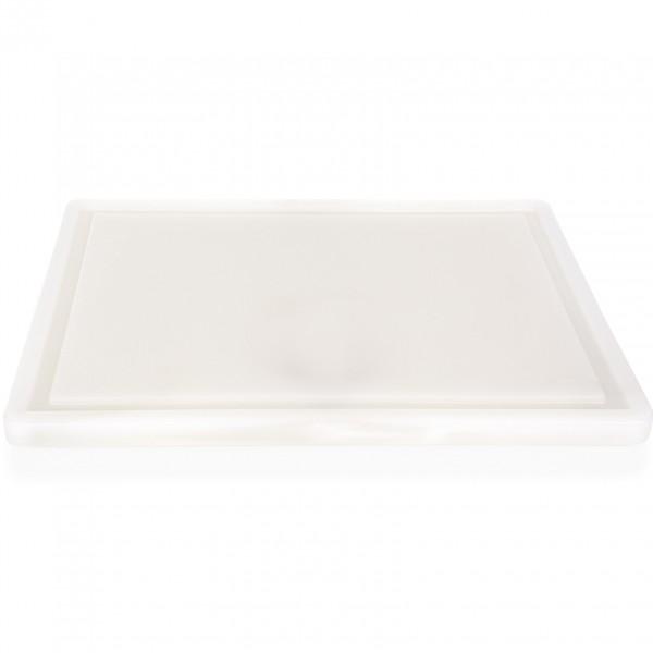 Schneidbrett mit Saftrille, 40 x 25 x 2 cm, Polyethylen