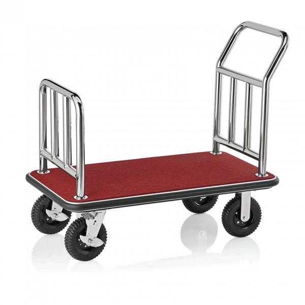 Gepäckwagen, 110 x 62 x 94 cm, silberfarben, Edelstahl