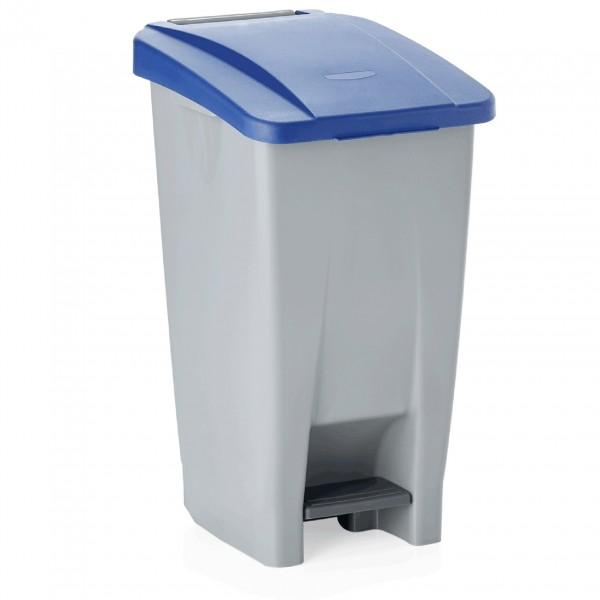 Tretabfallbehälter mit blauem Deckel, 60 ltr., Polyethylen