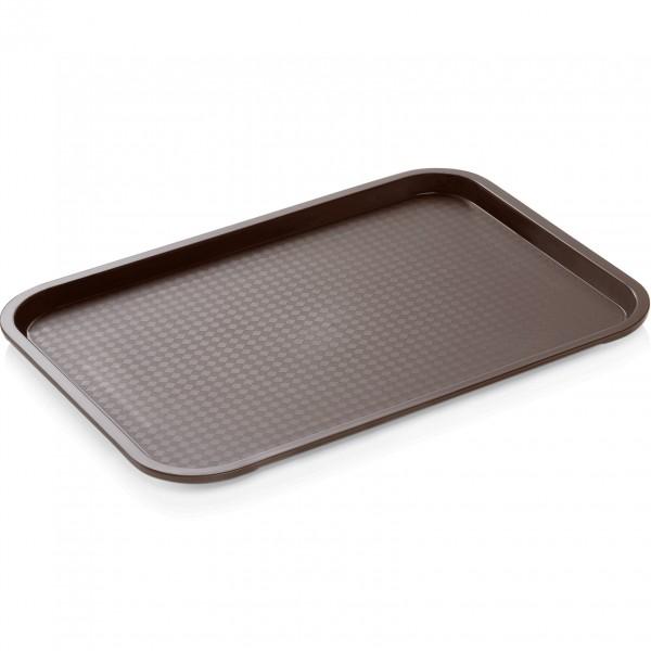 Tablett, 45,5 x 35,5 cm, braun, Polypropylen