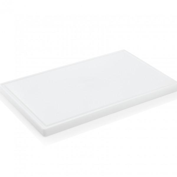 Schneidbrett mit Saftrille, 60 x 40 x 3 cm, Polyethylen