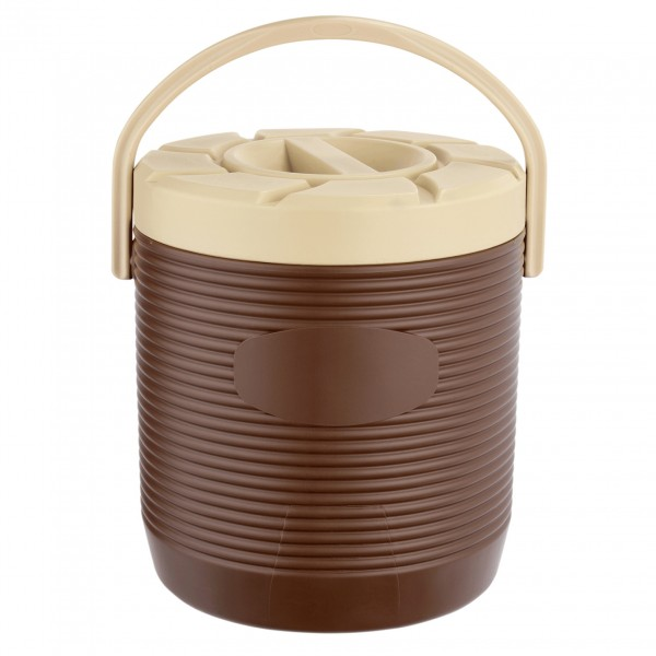 Thermospeisetransportbehälter, 12 ltr., braun, Kunststoff mit PU-Isolierung