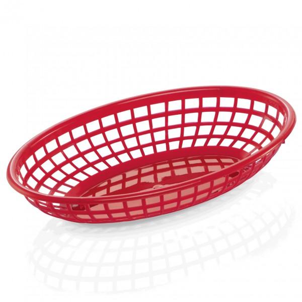 Tischkorb, 23 x 15 x 4,5 cm, rot, Polyethylen