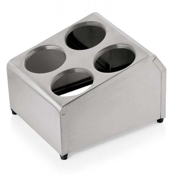 Besteckbehälter für vier Köcher, Chromnickelstahl