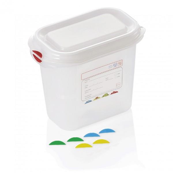 GN Behälter 1/9-150 mm, mit Deckel, Polypropylen