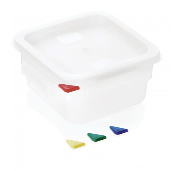 Vorratsbehälter mit Deckel, 2,0 ltr., 18,0 x 18,0 x 10 cm, Polypropylen