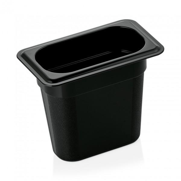 GN Behälter 1/9-150 mm, schwarz, Polycarbonat
