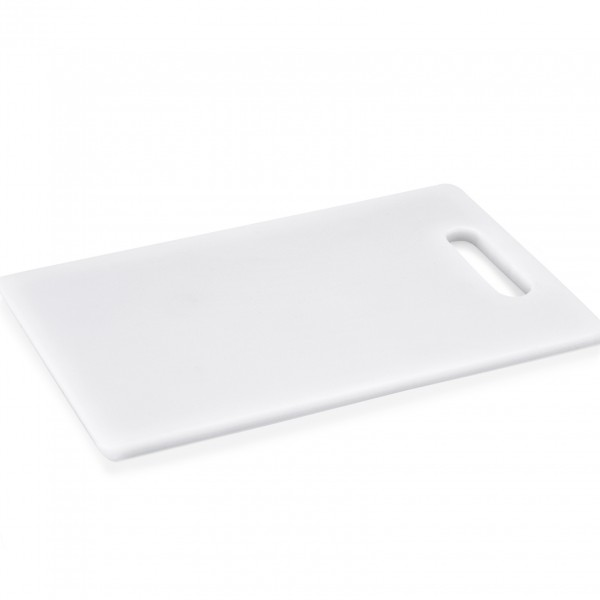 Schneidbrett mit Griffloch, 34 x 23 x 1 cm, Polyethylen